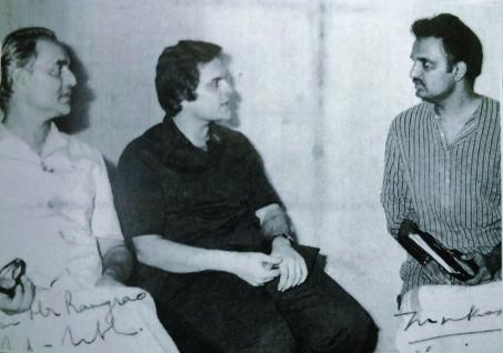 With playback singers Mukesh and Nitin Mukesh