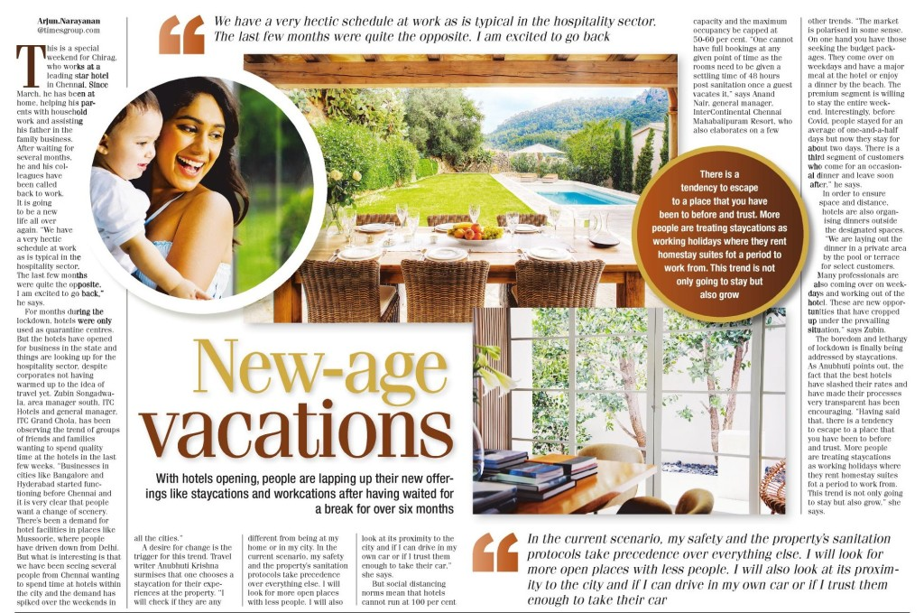 With the opening up of hotels, staycations and workcations have been lapped up by people who have been waiting for a break for over six months