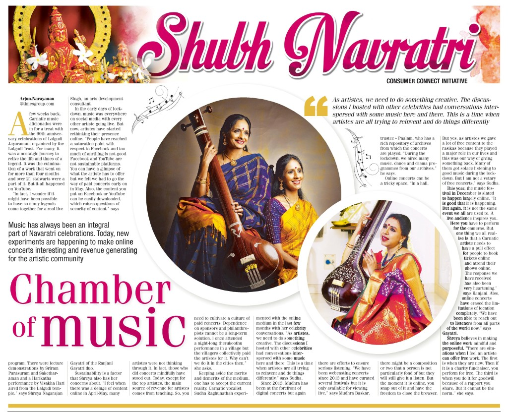 The lockdown has given us some wonderful music on social media. From hosting ticketed concerts to trying out innovative videos, the Carnatic artistes are doing some interesting work